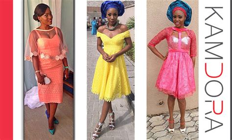 short gowns for aso ebi styles wedding glam 35 short aso ebi styles kamdora