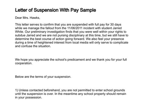 Explanation Letter For Neglect Of Duty letter of suspension