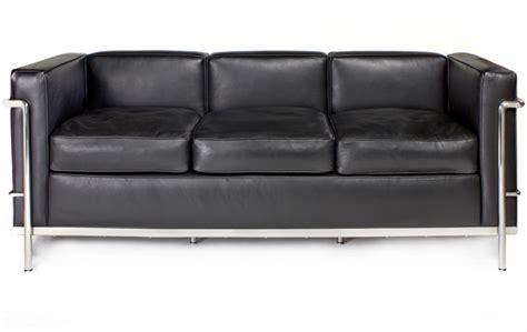 le petit confort 3 seater sofa by le corbusier lc2