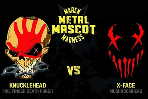 five finger death punch in your head ffdp vs mushroomhead march metal mascot madness round 1