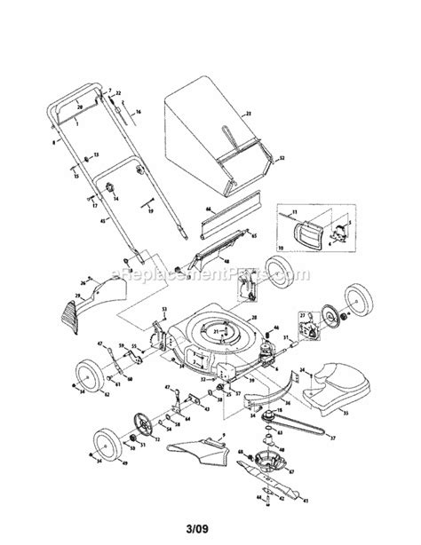 craftsman self propelled lawn mower parts diagram craftsman 247376830 parts list and diagram