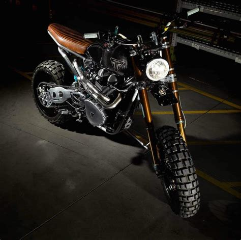 customized motocross triumph scrambler custom dirt bike off road wheels