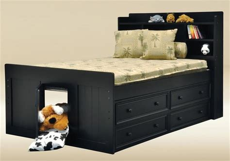 black size captains bed orange