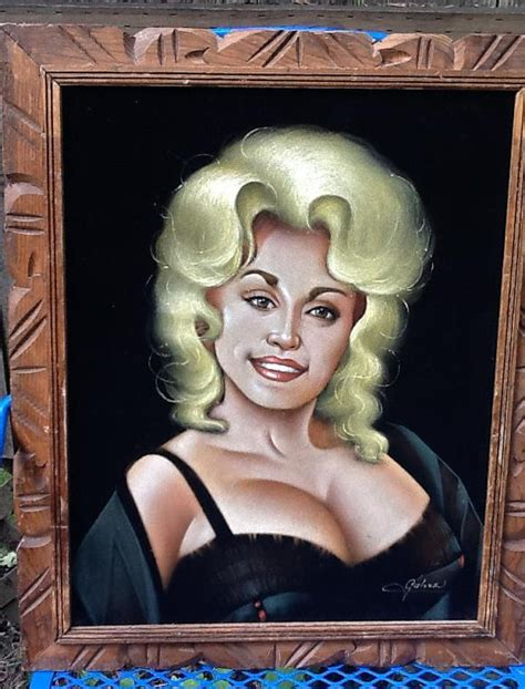 black dollys vintage dolly parton painting black velvet painting