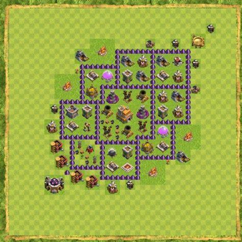 layout coc untuk th 7 susunan formasi base town hall 7 terbaik di clash of clans