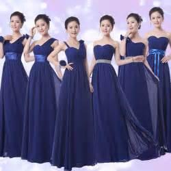 aliexpress com comprar azul marino de damas de honor vestidos vestidos de festa longo gasa