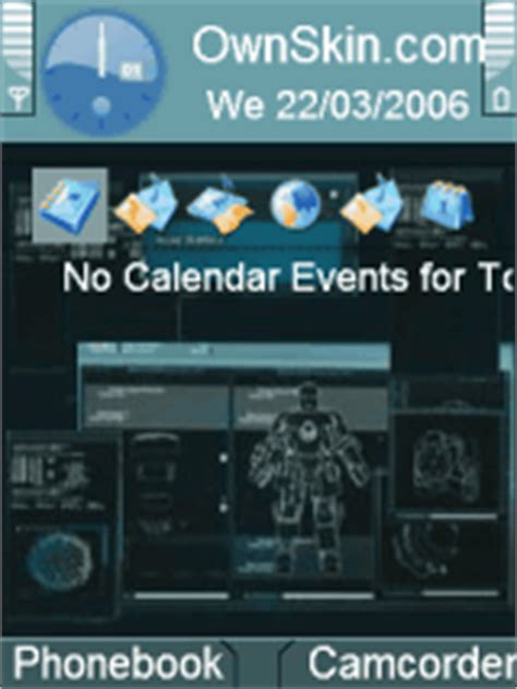 themes ownskin com jarvis iron man computer theme mobile themes for