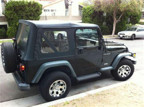 2000 Jeep Wrangler Se Sell Used 2000 Jeep Wrangler Se 4wd In El Segundo