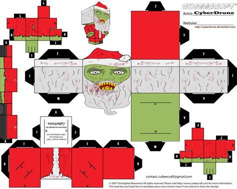 Santa Papercraft - santa paper free printable papercraft templates