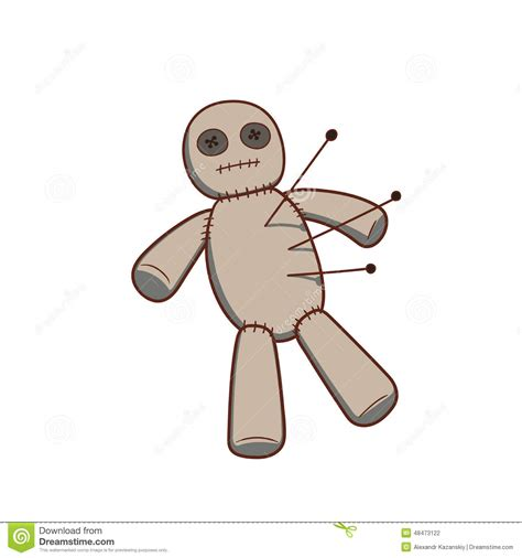 voodoo doll stock vector image 48473122