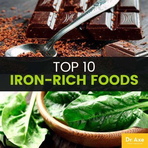 top 10 bar foods top 10 iron rich foods iron deficiency iron benefits