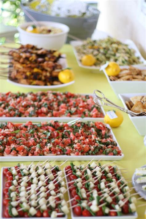 Bridal Shower Food Ideas by Bridal Shower Food Table Yellow Food Ideas