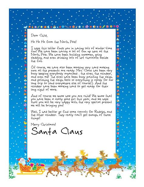 printable sts for santa letters easy free letter from santa magical package texts