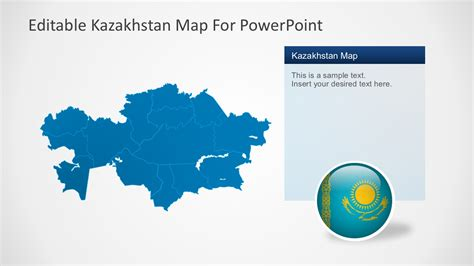 powerpoint map templates editable kazakhstan powerpoint map