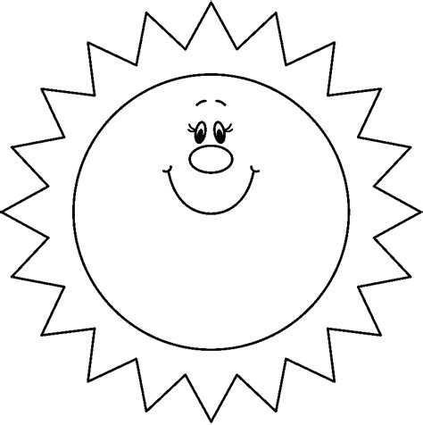 Sun Black Outline by Smiling Sun Clipart Black And White Clipartsgram