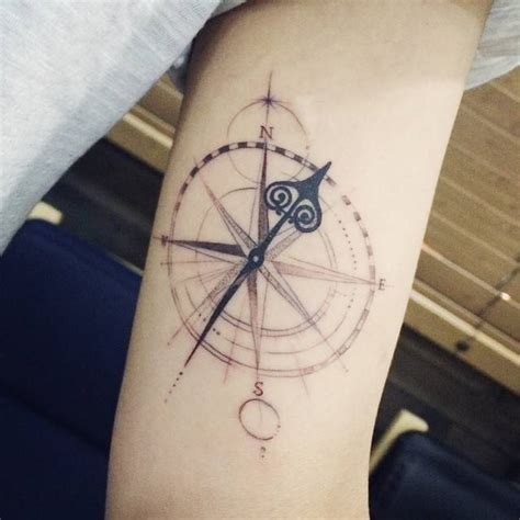 compass tattoo   left  arm