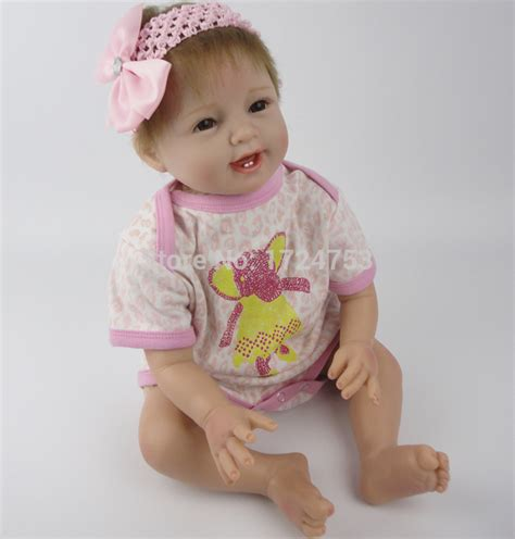 458 Baby Dolls Hearts soft silicone 22 quot reborn baby doll handmade baby toys collectible baby doll realistic