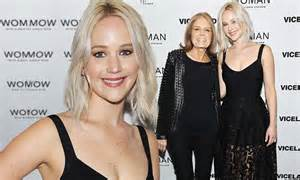 jennifer lawrence joins gloria steinem for premiere of new series