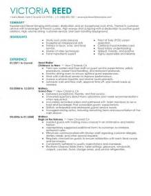 server resume food and restaurant writing resume sle