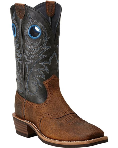 ariat cowboy boots ariat heritage stock cowboy boots wide square toe