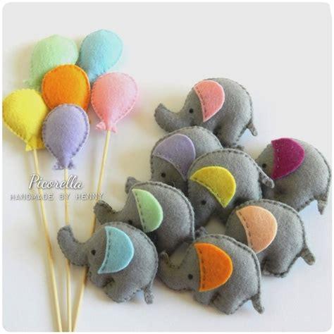 Felt Baby Shower Favors by A Set Of Felt Elephant Favor Felt Elephant Baby