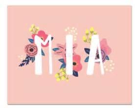 Personalized Charm Mia Name Etsy