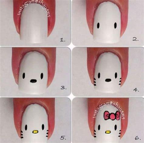tutorial nail art hello kitty 10 easy acrylic nail art tutorials for beginners