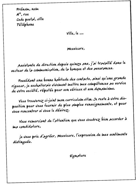 Exemple De Lettre De Motivation Pour Un Emploi En Intã Modele Lettre De Motivation Gratuite Document
