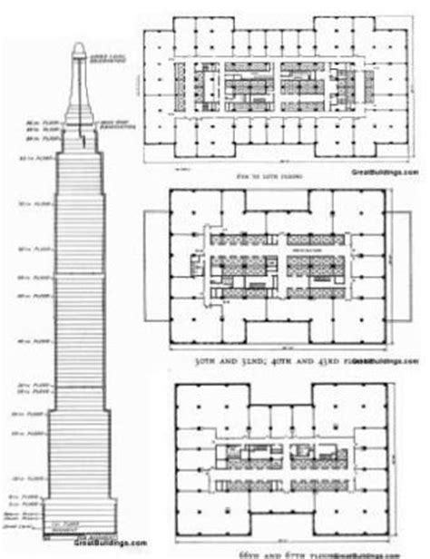 Chrysler Building Floor Plans by Empire State Building Pencil Thin Pinterest Building