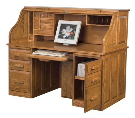 amish computer desk with roll top