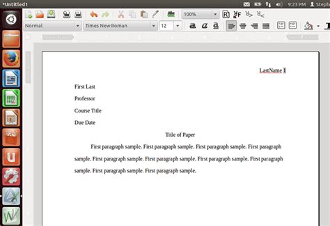 How To Make A Paper Mla Format - mla format using abiword mla format