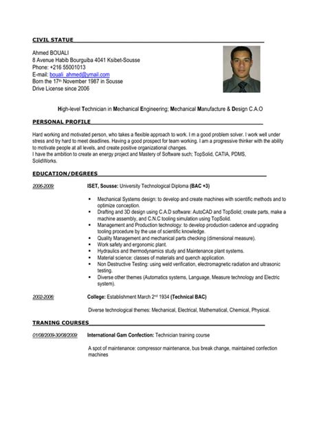 mechanical quality engineer resume pdf 28 images