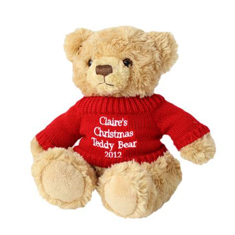 personalised christmas tatty teddy bear soft toy
