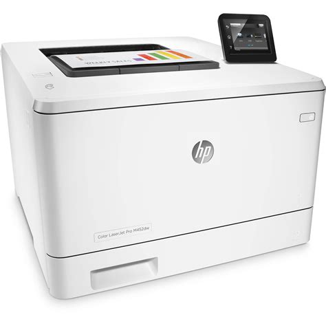 hp laser color printer hp color laserjet pro m452dw laser printer cf394a b h photo