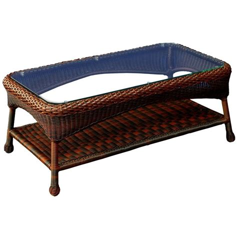 Outdoor Wicker Coffee Table Tortuga Outdoor Wicker Coffee Table Wickercentral