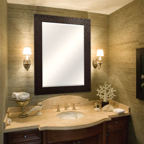 bronze bathroom amazon com mcs 32x44 inch frame with 24x36in beveled
