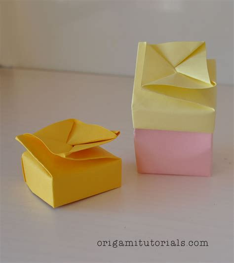 3d origami box tutorial origami tutorials learn how to fold origami