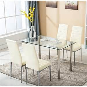 furniture kitchen table set 5pc glass dining table with 4 chairs set kitchen furniture