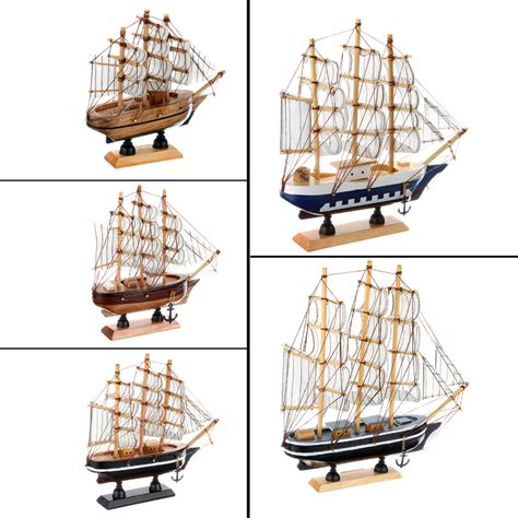 Ship Decor Home by Wooden Ship Model Miniatur Marine Wood Boat Wooden Sailing