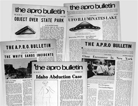 ufo research paper apro bulletins and handbook ufo research