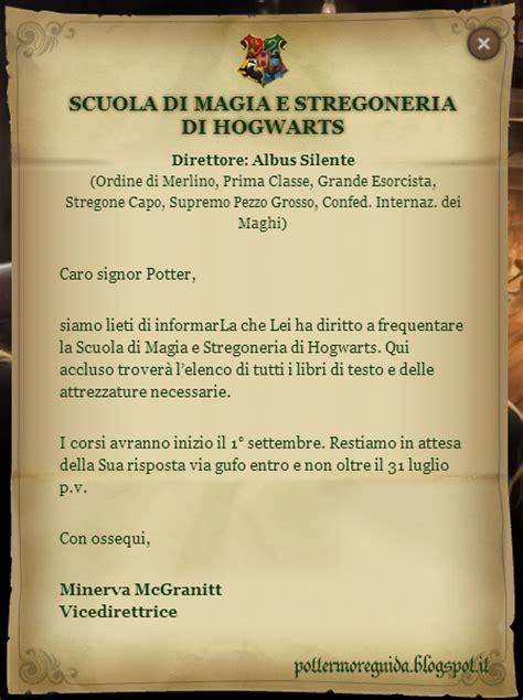 lettere d testo liste dell occorrente ad hogwarts aggiornato al 04 maggio