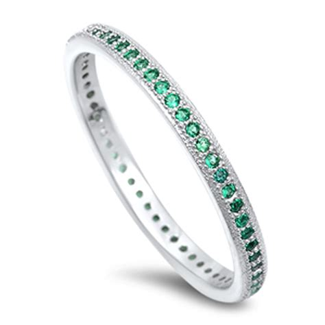 eternity ring new 925 sterling silver band ebay