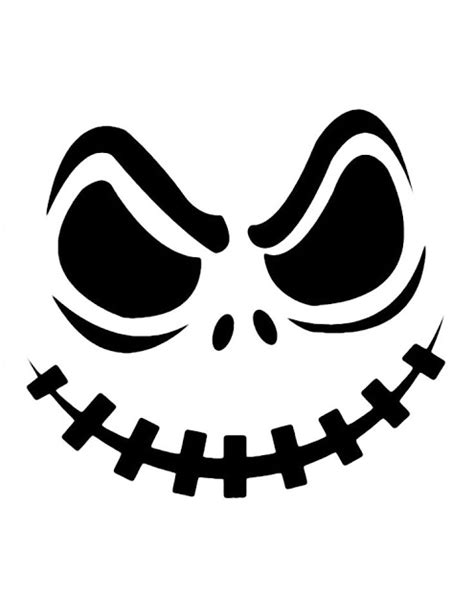free printable jack skellington pumpkin carving stencil