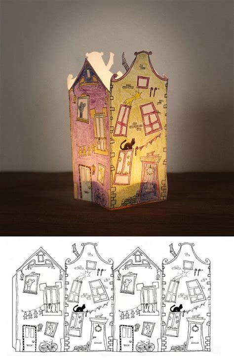 printable houses to fold free printable coloring paper house lantern print out