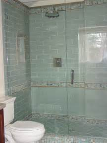 glass tile bathroom ideas blue glass tile shower