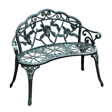 garden bench cast iron outsunny cast iron antique rose style outdoor patio garden park bench 40 quot outdoor
