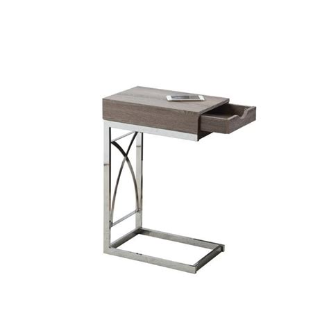 metal side tables for living room metal side table with drawer in dark taupe i 3173