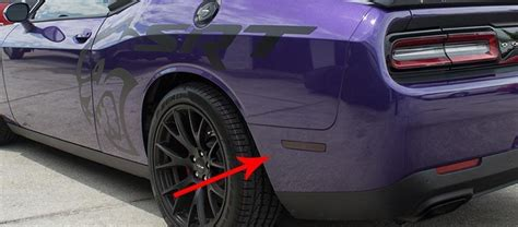 dodge challenger side marker blackout film