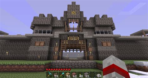 Minecraft Castle Door by Castle Wall And Gate Minecraft Project