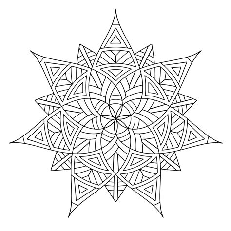 free coloring pages for adults free printable geometric coloring pages for adults